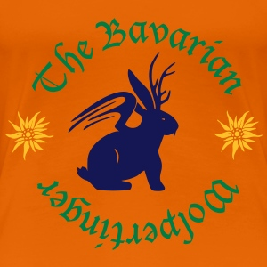 Der Wolpertinger (The Bavarian Wolpertinger) T-Shirts - Frauen Premium T-Shirt