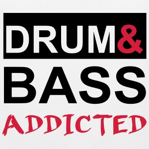 Drum and Bass Addicted Party Tee Shirt Tank Tops - Men's Premium Tank Top