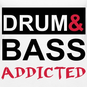 Drum and Bass Addicted Party T-Shirt Tops - Frauen Premium Tank Top
