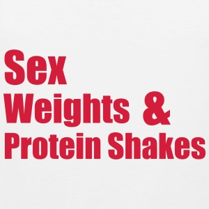 Sex Weights T-Shirts - Men's Premium Tank Top