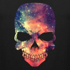 Universe - Space - Galaxy Skull T-Shirts