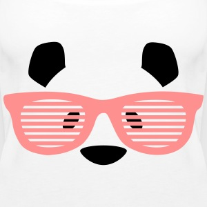tier panda brille Tops - Frauen Premium Tank Top