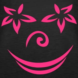 smiley-Blume Tops - Frauen Premium Tank Top