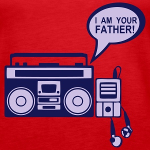 i_am_your_father K7 mp3-Radio-Player 0 Tops - Frauen Premium Tank Top