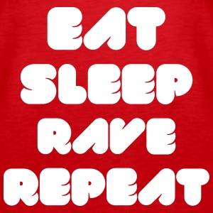 EAT SLEEP RAVE REPEAT Tops - Women's Premium Tank Top