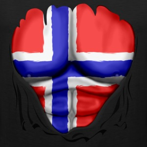 Norway Flag Ripped Muscles six pack chest t-shirt - Men's Premium Tank Top
