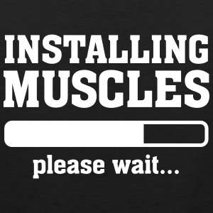 Installing Muscles (Loading) T-Shirts - Men's Premium Tank Top