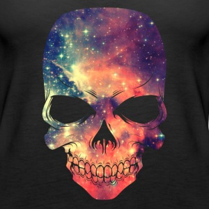 Universe - Space - Galaxy Skull Tops - Women's Premium Tank Top