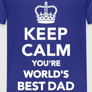 Keep calm world's best Dad T-Shirts - Kinder Premium T-Shirt