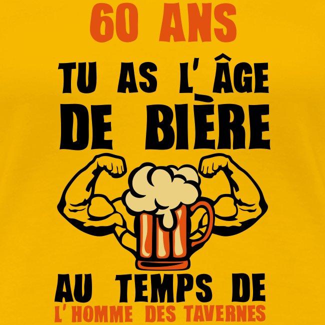 60 Ans Age De Biere T Shirt Premium Femme