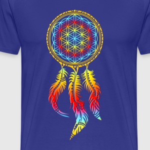 Dreamcatcher, Flower of Life, Spiritual, Indians T-Shirts - Men's Premium T-Shirt