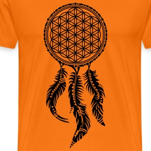 Flower of Life, Dream Catcher Spiritual, Indians T-Shirts - Men's Premium T-Shirt