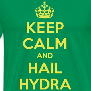 Keep calm and hail Hydra T-skjorter - Premium T-skjorte for menn