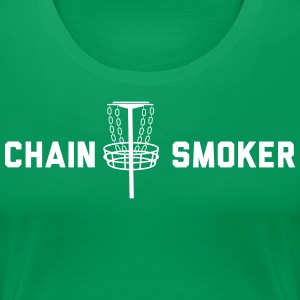 Disc Golf Chain Smoker T-Shirts - Women's Premium T-Shirt