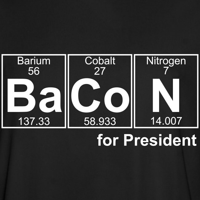 Bacon for President (you can change text)