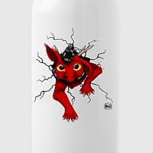 Huch?!- Drachi Dragon stuck rot/red Trinkflasche - Trinkflasche