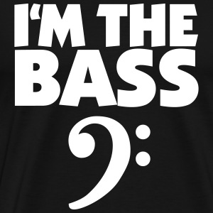 I'm the Bass White (DK) T-shirts - Herre premium T-shirt