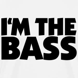 I'm the Bass 2 (DK) T-shirts - Herre premium T-shirt