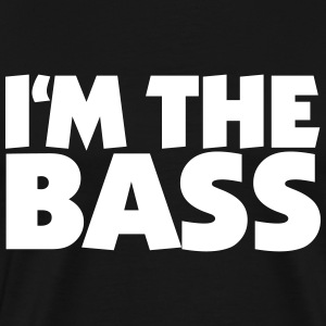 Im the Bass 2 White (DK) T-shirts - Herre premium T-shirt