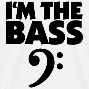 I'm the Bass Black (DK) T-shirts - Herre premium T-shirt