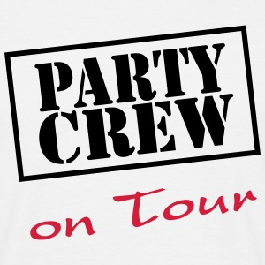 Party Crew on Tour T-shirts - Mannen T-shirt