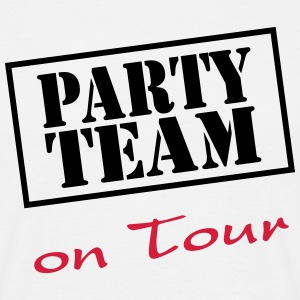 Party Team on Tour T-shirts - T-shirt herr