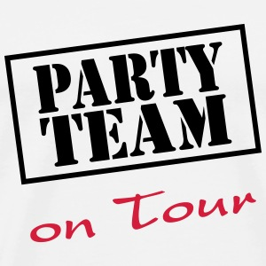 Party Team on Tour T-shirts - Herre premium T-shirt