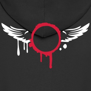 Graffiti wings design  Hoodies & Sweatshirts - Men's Premium Hooded Jacket