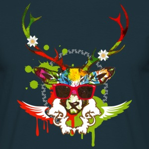 A stag's head with red sunglasses T-Shirts - Men's T-Shirt