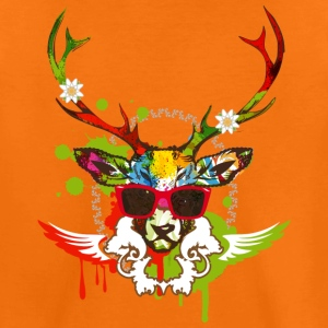 A stag's head with red sunglasses Shirts - Kids' Premium T-Shirt