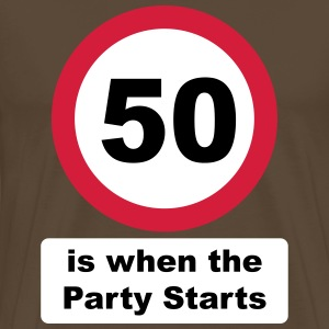 50 is when the Party Starts (3 colors) Tee shirts - T-shirt Premium Homme