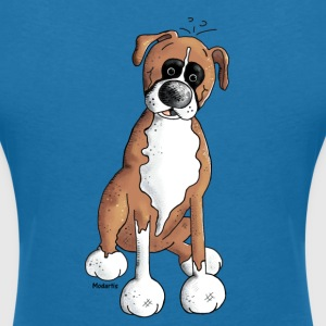 Boxer - Chien - Chiens Tee shirts - T-shirt col V Femme