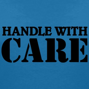 Handle with care T-shirts - Dame-T-shirt med V-udskæring