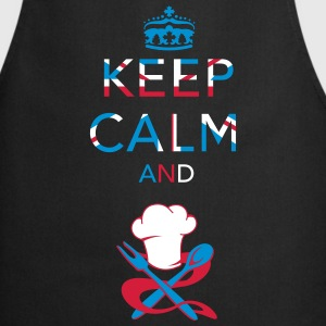 Keep calm ... Union Jack   Aprons - Cooking Apron