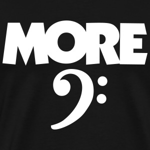 More Bass Clef White (DK) T-shirts - Herre premium T-shirt