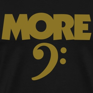 More Bass T-Shirt (Herren Gold) - Männer Premium T-Shirt