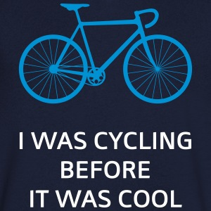 I Was Cycling Before It Was Cool T-Shirts - Men's V-Neck T-Shirt