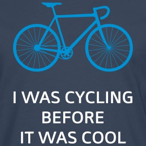 I Was Cycling Before It Was Cool Long sleeve shirts - Men's Premium Longsleeve Shirt