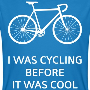 I Was Cycling Before It Was Cool Magliette - T-shirt ecologica da uomo