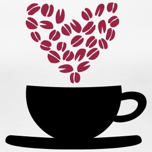 Coffee Cup and Beans T-Shirts - Women's Premium T-Shirt