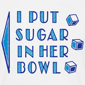 sugar in bowl - for men Tee shirts - T-shirt Homme