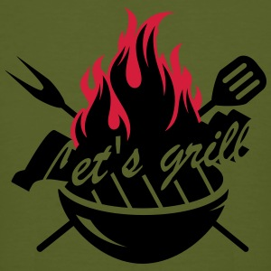 A grill with barbecue utensils T-Shirts - Men's Organic T-shirt