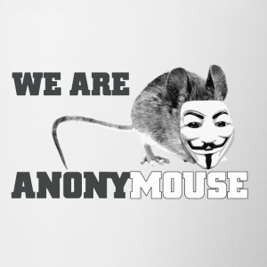 we are anonymouse - anonymous Flaschen & Tassen - Tasse zweifarbig