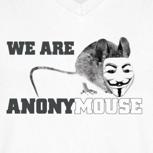 we are anonymouse - anonymous Koszulki - Koszulka męska Canvas z dekoltem w serek