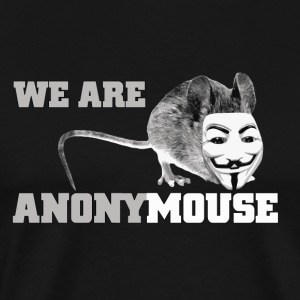 we are anonymouse - anonymous T-shirts - Mannen Premium T-shirt