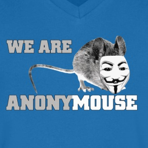 we are anonymouse - anonymous Camisetas - Camiseta de pico hombre