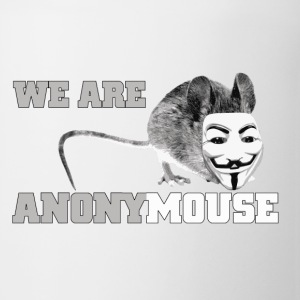 we are anonymouse - anonymous Flaschen & Tassen - Tasse