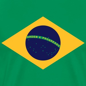 Brazil Flag Banner Colors Football Championship T-shirts - Herre premium T-shirt