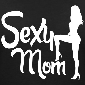 sexy mom T-Shirts - Women's V-Neck T-Shirt