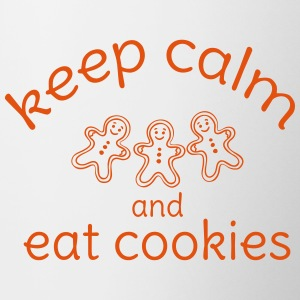 keep calm and eat cookies  Bottles & Mugs - Contrasting Mug
